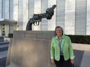 Baerbel at the UN HQ