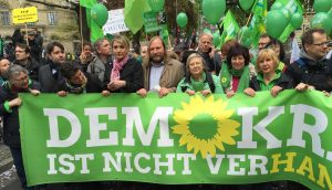 Baerbel democracy demonstration